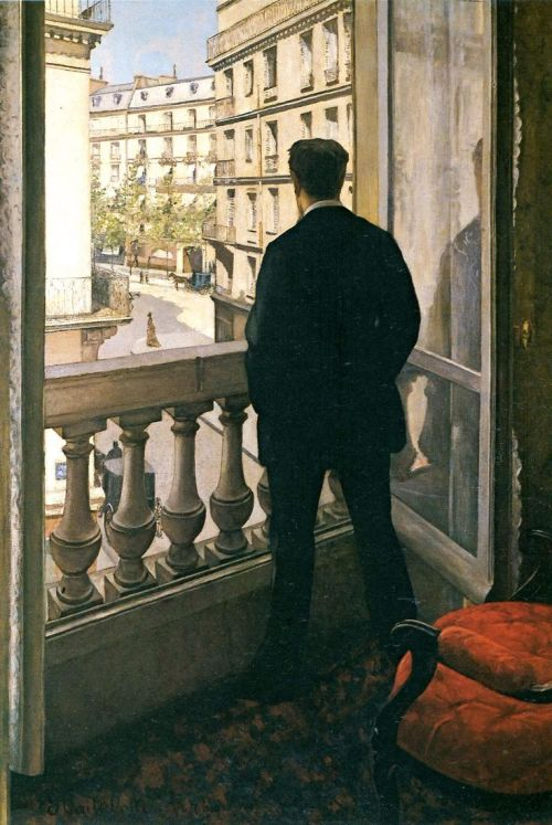 "Gustave Caillebotte, ""Man at the Window"", 1875"