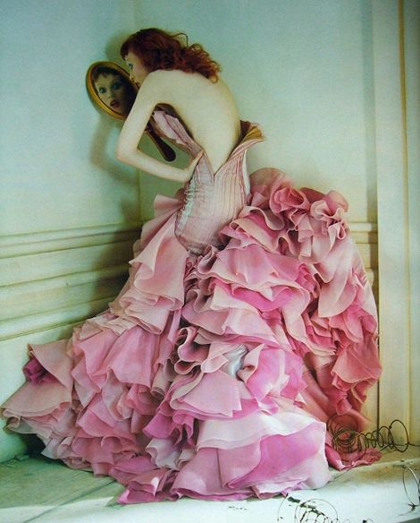 Karen Elson in a past issue Vogue. Photo Tim Walker, set design by Shona Heath