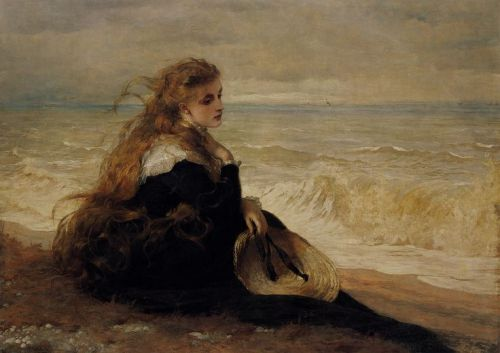 On the Seashore by George Elgar Hicks, 1879